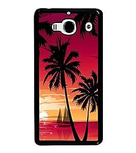 printtech Beach Palm Trees Boat Back Case Cover for Xiaomi Redmi 2S::Xiaomi Redmi 2::Xiaomi Redmi 2 Prime