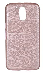 Tarkan Pop Colour Synthetic Leather Back Case Cover For Moto G4 / G4 Plus [4th Generation] [Rose]