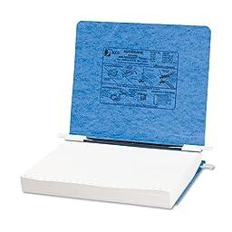 Pressboard Hanging Data Binder, 11 x 8-1/2 Unburst Sheets, Light Blue