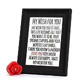 Valentine Gift with Wishful Black Photo Frame GIFTS110322 Romantic Valentine Gift,Valentine Gift for Him,Valentine Gift for Her,Valentine Gift for Boyfriend,Valentine Gift for Girlfriend,Valentine Gift for Husband,Valentine Gift for Wife
