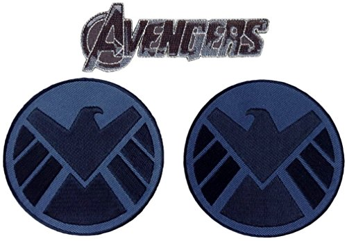Avengers Movie Shield Costume Shoulder Patch Set of 2 [3.5 Inches] (Heroes And Cults compare prices)