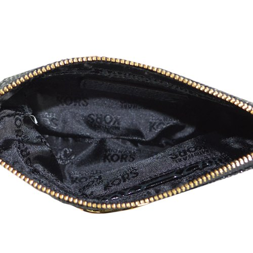 MICHAEL Michael KorsMichael Kors Fulton Leather Wristlet, Black Python