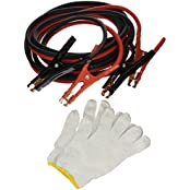 Majic 16 Feet Long, 4 Gauge 600 AMP Extra Heavy Duty Battery Booster Cable / Jumper Cable In Travel Bag And Safety...