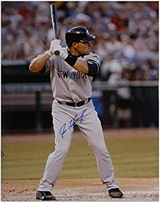 "Ivan Rodriguez New York Yankees Autographed 16"" x 20"" Vertical Batting Photograph - Fanatics Authentic Certified"
