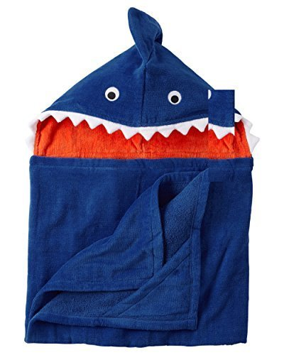 Baby Boy Hooded Bath Towels (Multiple Styles) (Shark) (Hooded Towels Carters compare prices)