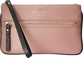 Kate Spade New York Women's Cobble Hill Bee Makeup Pink/Black/Pebble Clutch