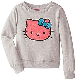 Hello Kitty Little Girls\' Sweatshirt, Heather Gray, 6