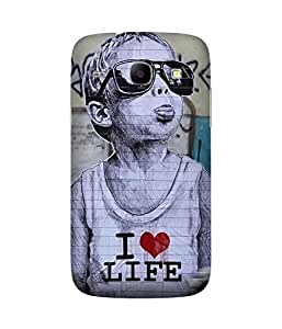 I Love Life Samsung Galaxy Core I8260 Case