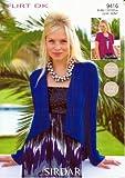 Sirdar Flirt DK Ladies Knitting Pattern 9416