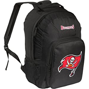 NFL Tampa Bay Buccaneers Southpaw Backpack, Black, Medium by Concept 1