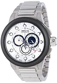 Invicta Reserve Chronograph White Dial Stainless Steel Mens Watch 14301