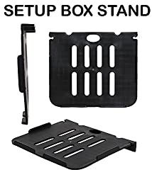 Wall Mount Set Top Box Stand Compatible For Tata Sky 4k Ultra HD Box-BLACK