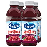 Ocean Spray 100% Juice Cranberry, Pomegranate, 12 Ounce, 4 count