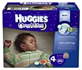 Baby & Maternity Online Shop Ranking 21. Huggies OverNites Diapers, Size 4, Big Pack, 60 Count