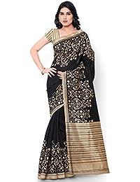Applecreation Bhagalpuri Silk Saree (2Wom8204_Black)