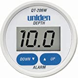 Uniden QT-206 Digital Depth Finder Transom Transducer (White)