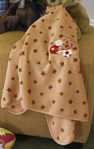 Jr. Varsity Fluffy Print Fleece Blanket With Embroidery front-1068894