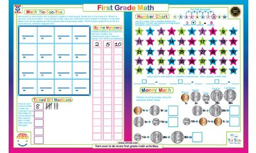 First Grade Math Placemat
