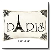 Small Paris Embroidered ACCENT Pillow
