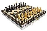 35.6cm Perla Madera juego de ajedrez y damas 35cm x 35cm