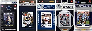 NFL Dallas Cowboys 5 Different Licensed Trading Card Team Sets by C&I Collectables