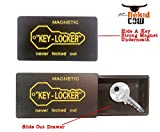 The Nekid Cow Brand Magnetic 3 pack Set Car Hide-A-Key Holder Case with SUPER STRONG Magnet Key Case- Key Storage Box Hider PLUS Precision 3 in 1 Mini OIL Compass Keychain & LED Light [BUNDLE PACK-4pcs] - You Will Love THIS - Great Gift Giving Idea