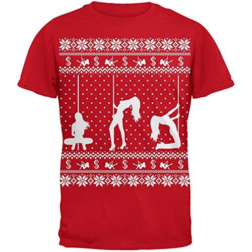 strip-teaseuse-silhoutte-noel-laid-chandail-rouge-t-shirt-adulte-x-large