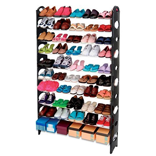 yoyo-s-106-10-tier-adjustable-shoe-storage-shoe-rack-organiser-shelf-hold-stand-for-50-pairs-space-s