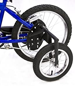 Bike USA Junior Stabilizer Wheel Kit (Black, 20-Inch) - Heavy-Duty BMX Training... by Bike USA