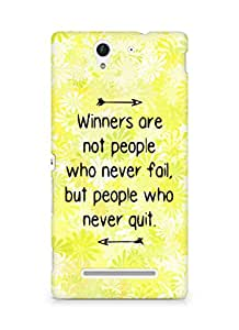 AMEZ but people who never quit Back Cover For Sony Xperia C3 D2502