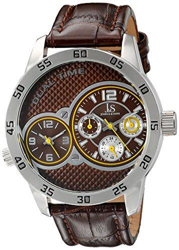 Joshua & Sons Reloj con movimiento cuarzo japonés JS97BR 49 mm