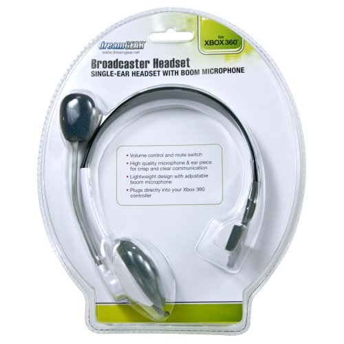 dreamGEAR Broadcaster Headset for Xbox 360 - White