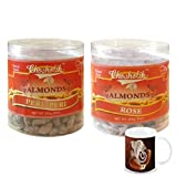 Chocholik - Almonds Peri Peri & Almonds Rose 2 Combo Pack With Diwali Special Coffee Mug - Diwali Gifts