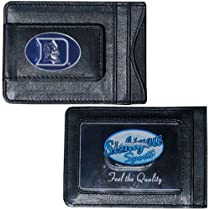 Duke Blue Devils Fine Leather Money Clip - Black