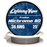 Genuine Lightning Vapes ® 36 AWG Nichrome 80 Wire 25' 50' 100' 250' 500' 1000' (25')