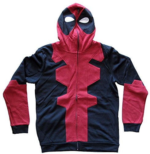 Mad Engine Marvel Men's Deadpool Costume Hoodie