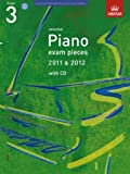 * OLD * ABRSM Selected Piano Exam Pieces: 2011-2012 (Grade 3) - Book and CD