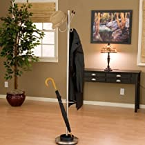 Jade Metal Standing Coat Rack and Umbrella Stand