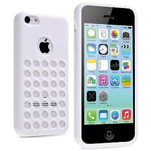 vau iPhone 5C Case - punched white - TPU Silikon-Case, Tasche für Apple iPhone 5C