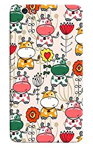 Omnam Cow Printed Pattern Beautifully Design Printed Designer Back Cover Case For Gionee S6