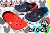 [crocs] クロックス 14609 クロックバンド ミッキー クロッグ 3.0 キッズ C10*C11(17.5cm) 485(navy*red)