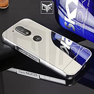 TGK™ ULTRA Premium Luxury Metal Bumper Acrylic Mirror Back Cover (Silver) for Motorola Moto G PLUS 4th Gen (Not Compatible With Motorola Moto G 4th Gen)