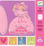 Djeco / Set of 5 Princess Stencils