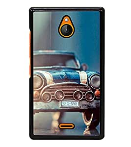 old car blue Back Case Cover for NOKIA XL