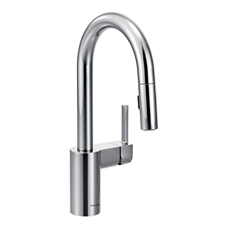 Moen 5965 Align One-Handle High Arc Pulldown Bar Faucet, Chrome