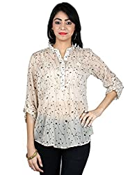 Vastrasutra Beige Floral Printed Top for Women_M