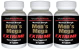 Men's Mega Extreme (3 Bottles) - High Performance Multivitamin for Male Health, Complete Nutrition for Active Men - 30 Tablets