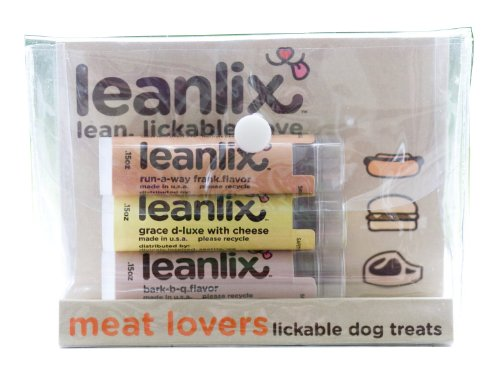 Leanlix Littlelix Lickable Dog Treats For Small Dogs, Meat Lovers Pack, Pack Of 3