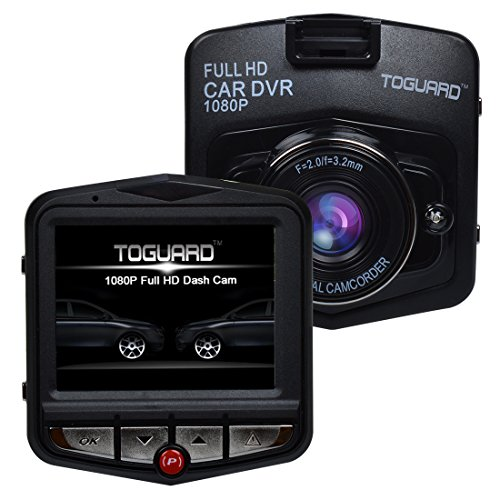 TOGUARD Auto-Blackbox, Full HD, 12MP, Auto-Kamera, DVR, 1080P mit breitwinkligem Objektiv, unterstützt G-Sensor, Bewegungserkennung, Loop-Recorder, HDMI-Ausgang, Parkplatz-Monitor, Nachtsicht G-Sensor (2.46 Zoll, 1080P FHD)