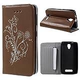 Retro Style Flower Stand Leather Phone Tasche Hüllen